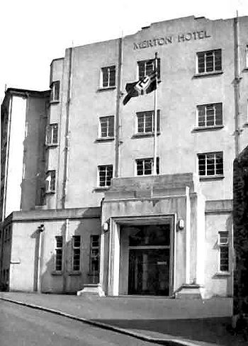 The Merton Hotel was converted into a hospital for the Germans during the Occupation